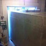 Intag av filtersystem genom dörr