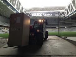 Intag av kassaskåp av tele2 Arena